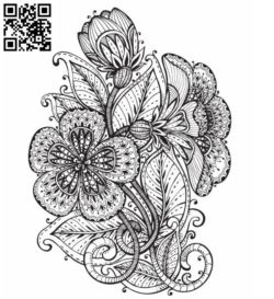 Decorative flowers file cdr and dxf free vector download for laser engraving machines