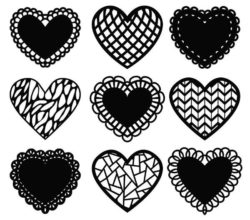 Decorative heart file cdr and dxf free vector download for Laser cut