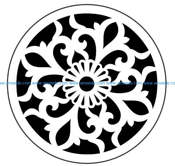 Decorative motifs circle E0009823 file cdr and dxf free vector download for Laser cut