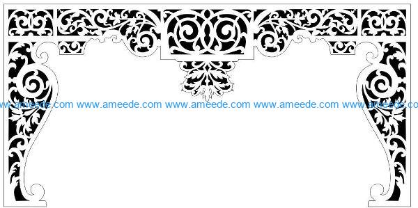 Decorative pattern E0009859 file cdr and dxf free vector download for Laser cut CNC