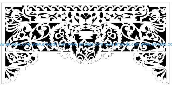 Decorative pattern E0009860 file cdr and dxf free vector download for Laser cut CNC