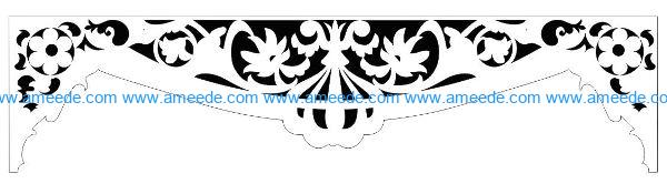 Decorative pattern E0009861 file cdr and dxf free vector download for Laser cut CNC