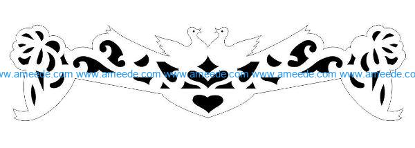 Decorative pattern E0009862 file cdr and dxf free vector download for Laser cut CNC