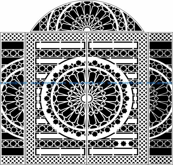 Design pattern door E0009727 file cdr and dxf free vector download for Laser cut CNC