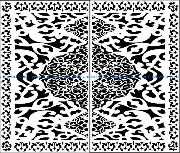 Design pattern door E0009749 file cdr and dxf free vector download for Laser cut CNC