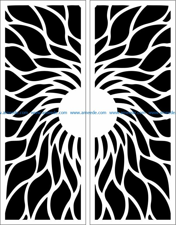 Design pattern door E0009750 file cdr and dxf free vector download for Laser cut CNC