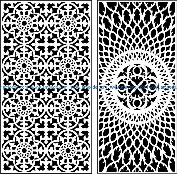 Design pattern door E0009752 file cdr and dxf free vector download for Laser cut CNC