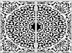 Design pattern door E0009753 file cdr and dxf free vector download for Laser cut CNC