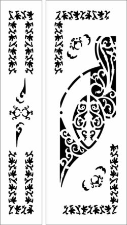 Design pattern door E0009754 file cdr and dxf free vector download for Laser cut CNC