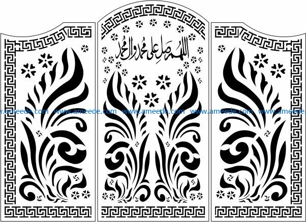 Design pattern door E0009755 file cdr and dxf free vector download for Laser cut CNC