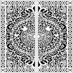Design pattern door E0009798 file cdr and dxf free vector download for Laser cut CNC
