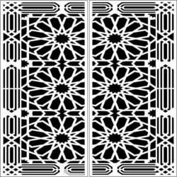 Design pattern door E0009799 file cdr and dxf free vector download for Laser cut CNC