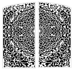 Design pattern door E0009820 file cdr and dxf free vector download for Laser cut CNC