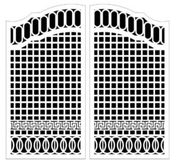 Design pattern door E0009822 file cdr and dxf free vector download for Laser cut CNC