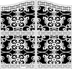 Design pattern door E0009856 file cdr and dxf free vector download for Laser cut CNC