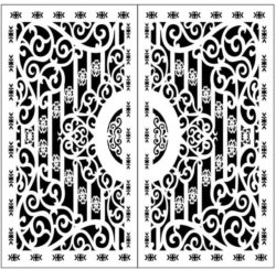 Design pattern door E0009857 file cdr and dxf free vector download for Laser cut CNC