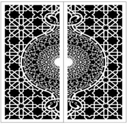 Design pattern door E0009858 file cdr and dxf free vector download for Laser cut CNC