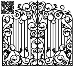 Design pattern iron gate E0010028 file cdr and dxf free vector download for Laser cut CNC