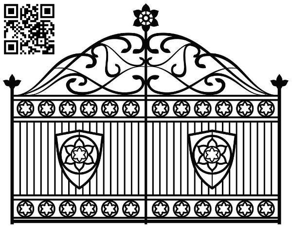 Design pattern iron gate E0010029 file cdr and dxf free vector download for Laser cut CNC