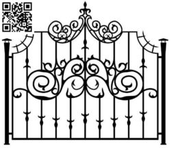 Design pattern iron gate E0010030 file cdr and dxf free vector download for Laser cut CNC