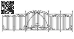 Design pattern iron gate E0010031 file cdr and dxf free vector download for Laser cut CNC