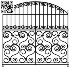 Design pattern iron gate E0010032 file cdr and dxf free vector download for Laser cut CNC