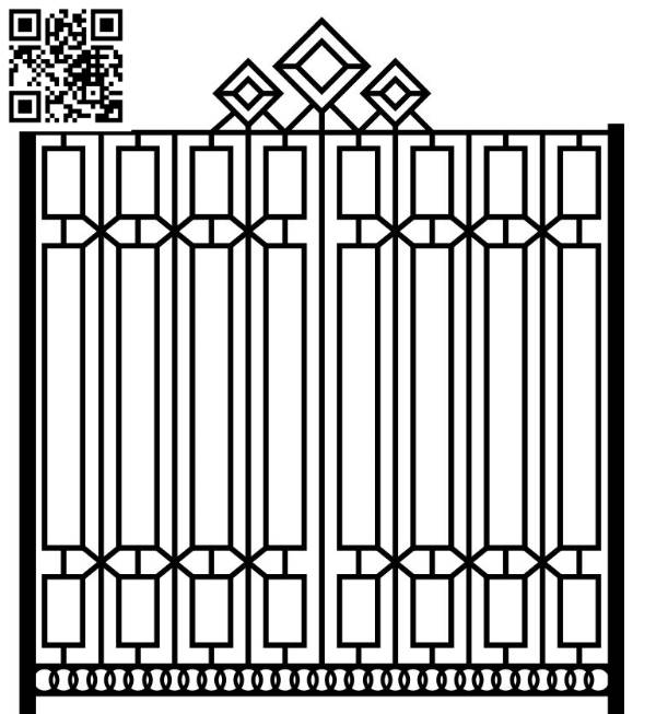 Design pattern iron gate E0010068 file cdr and dxf free vector download for Laser cut CNC