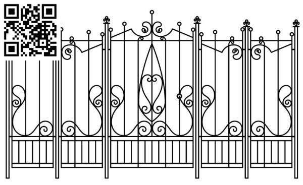 Design pattern iron gate E0010069 file cdr and dxf free vector download for Laser cut CNC