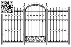 Design pattern iron gate E0010070 file cdr and dxf free vector download for Laser cut CNC