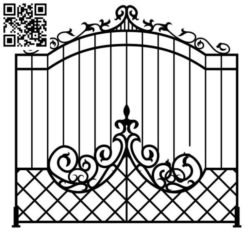 Design pattern iron gate E0010071 file cdr and dxf free vector download for Laser cut CNC