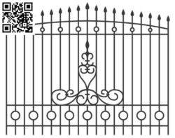 Design pattern iron gate E0010096 file cdr and dxf free vector download for Laser cut CNC