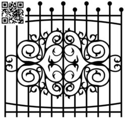 Design pattern iron gate E0010097 file cdr and dxf free vector download for Laser cut CNC