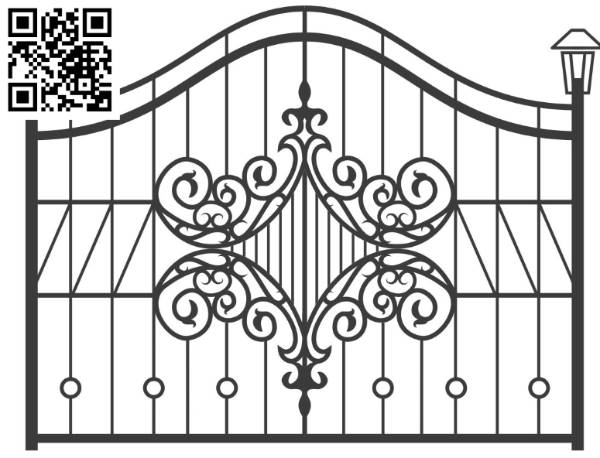 Design pattern iron gate E0010098 file cdr and dxf free vector download for Laser cut CNC