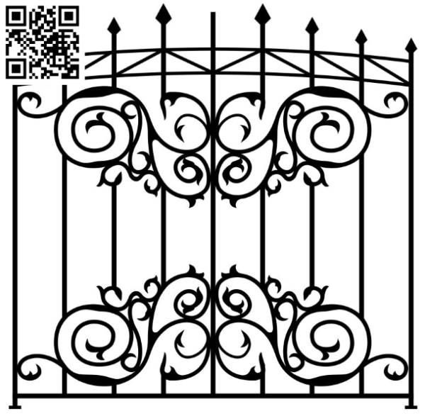 Design pattern iron gate E0010099 file cdr and dxf free vector download for Laser cut CNC