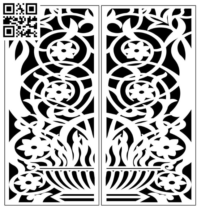 Design pattern panel screen E00010136 file cdr and dxf free vector download for Laser cut CNC
