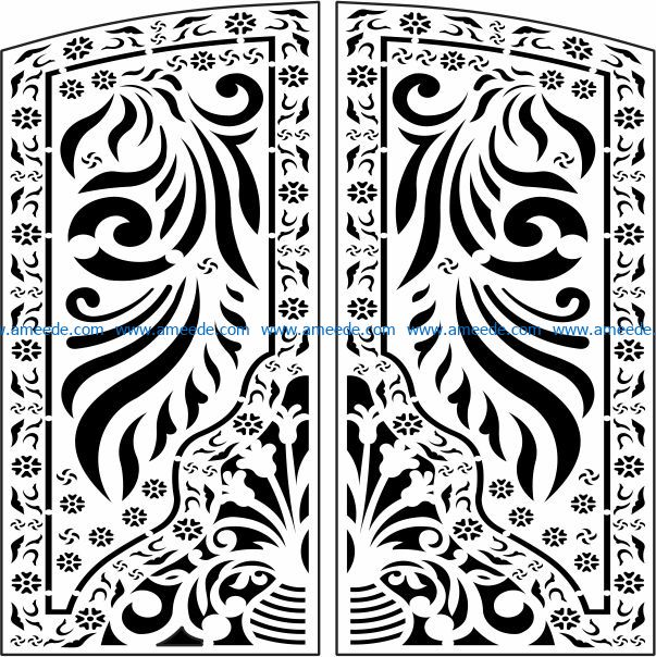 Design pattern panel screen E0009748 file cdr and dxf free vector download for Laser cut CNC
