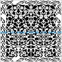 Design pattern panel screen E0009792 file cdr and dxf free vector download for Laser cut CNC