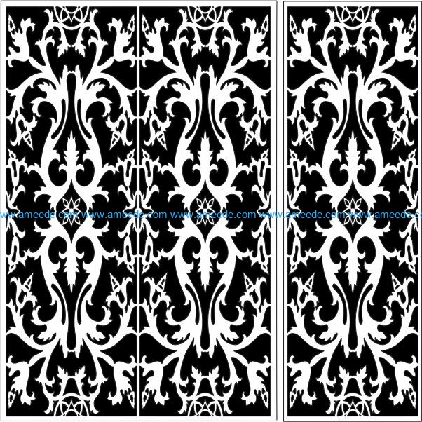Design pattern panel screen E0009793 file cdr and dxf free vector download for Laser cut CNC