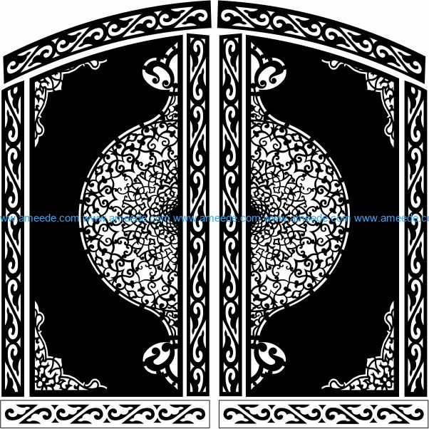 Design pattern panel screen E0009797 file cdr and dxf free vector download for Laser cut CNC