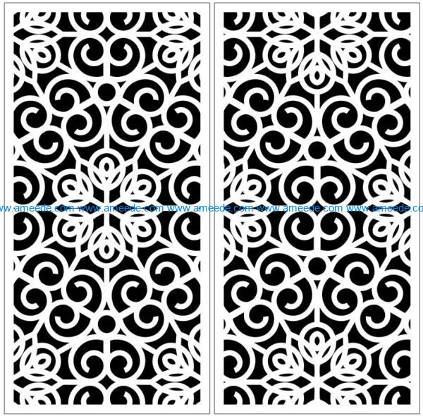 Design pattern panel screen E0009926 file cdr and dxf free vector download