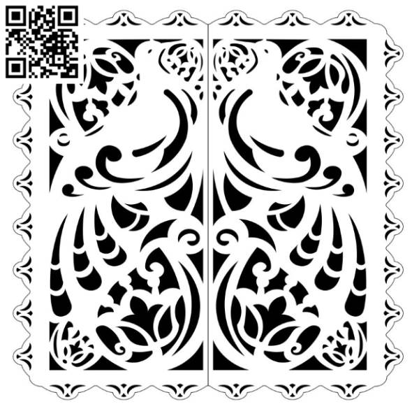 Design pattern screen panel E0010033 file cdr and dxf free vector download for Laser cut CNC