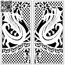 Design pattern screen panel E0010034 file cdr and dxf free vector download for Laser cut CNC