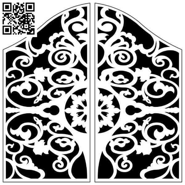 Design pattern screen panel E0010036 file cdr and dxf free vector download for Laser cut CNC
