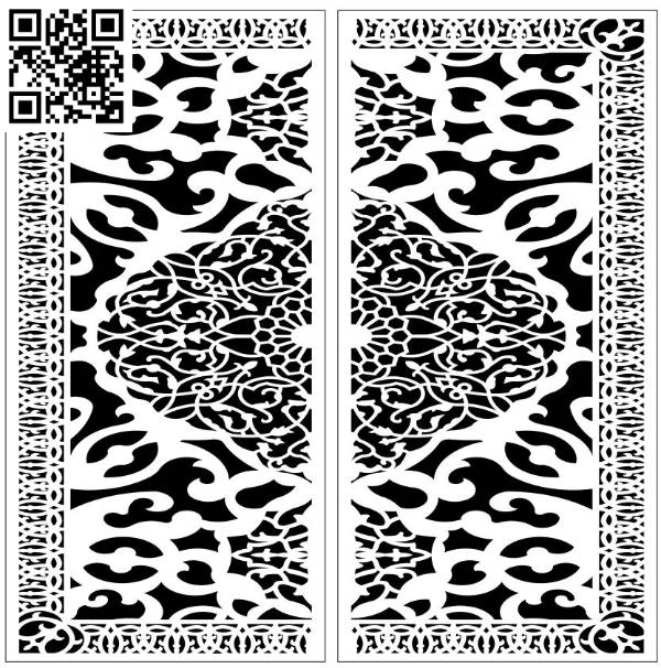 Design pattern screen panel E0010037 file cdr and dxf free vector download for Laser cut CNC