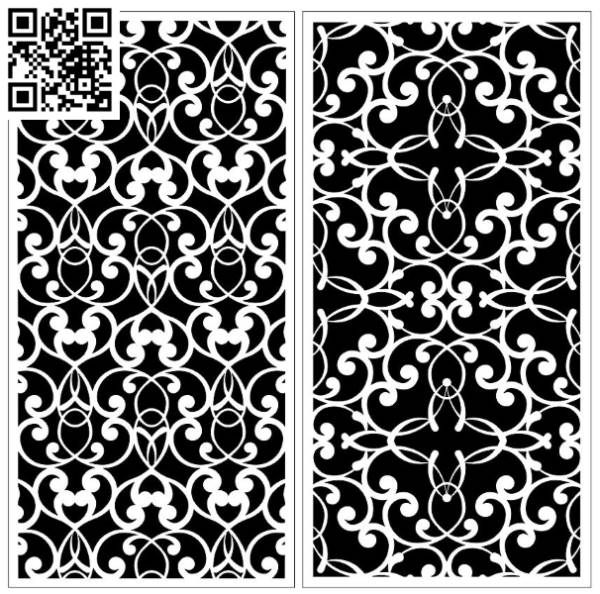 Design pattern screen panel E0010063 file cdr and dxf free vector download for Laser cut CNC