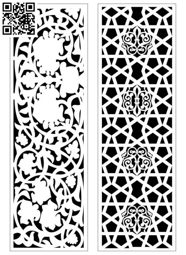 Design pattern screen panel E0010064 file cdr and dxf free vector download for Laser cut CNC