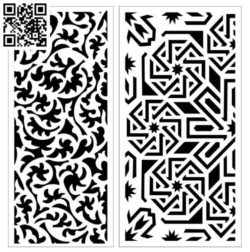 Design pattern screen panel E0010066 file cdr and dxf free vector download for Laser cut CNC