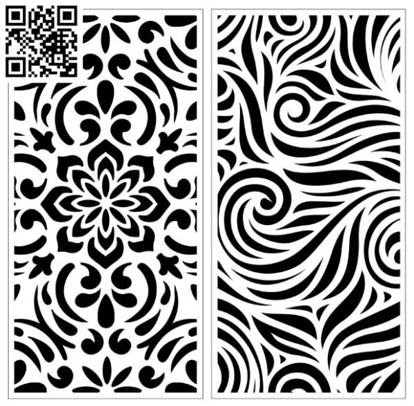 Design pattern screen panel E0010067 file cdr and dxf free vector download for Laser cut CNC