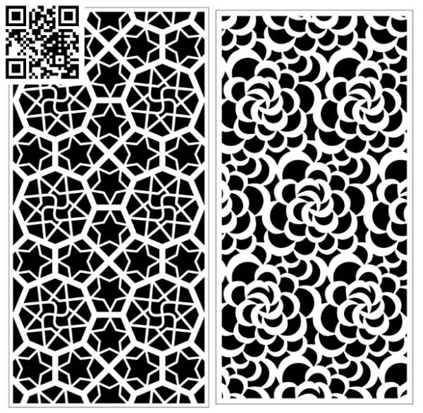 Design pattern screen panel E0010101 file cdr and dxf free vector download for Laser cut CNC