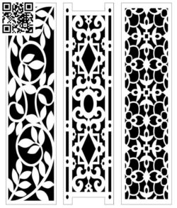 Design pattern screen panel E0010105 file cdr and dxf free vector download for Laser cut CNC